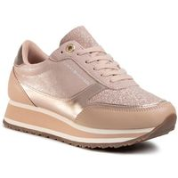 Sneakersy TOMMY HILFIGER - Metallic Retro Runner FW0FW03337 Mahogany Rose 641