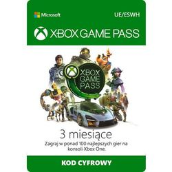 xbox game pass 3 miesiące marki Microsoft