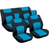 Carpoint pokrowce na siedzenia - niebieskie/czarne