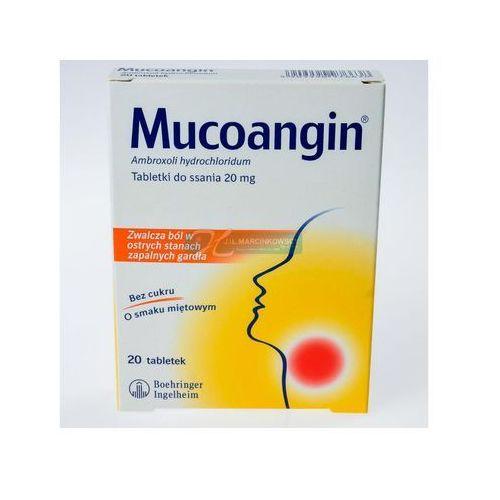 Tabletki Mucoangin, 20 mg, tabl. do ssania, 20 szt