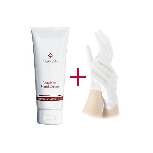 CLARENA Portulacia Hand Cream Krem intensywnie regenerujący do pielęgnacji dłoni + rękawiczki 100 ml - zdjęcie