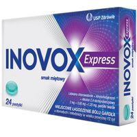 Pastylki INOVOX Express smak miętowy 24 pastylki