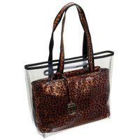 Torebka shopper bag transparentna w cętki monnari 2940 brąz