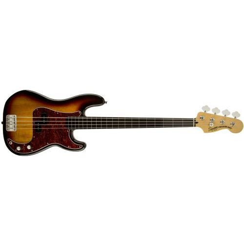 vintage modified precision bass fretless, ebonol fingerboard, 3-color sunburst gitara basowa - wyprzedaż marki Fender