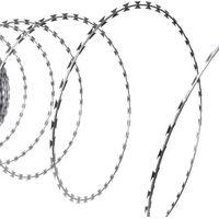 vidaXL Rolka z drutem kolczastym żyletkowym ze stali ocynkowanej 60 m NATO (8718475875888)