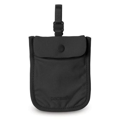 Damski sekretny portfel Pacsafe Coversafe S25, pod biustonosz - czarny, kolor czarny