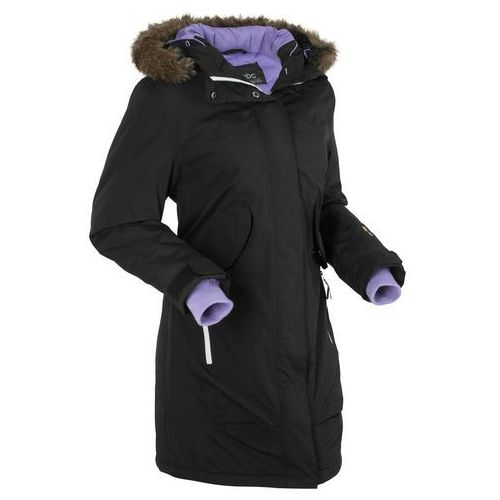 Płaszcz funkcyjny outdoorowy bonprix czarny, w 4 rozmiarach