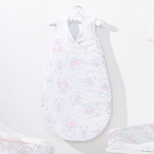 MAMO-TATO Śpiworek niemowlęcy do spania Bubble Misie róż, kolor różowy