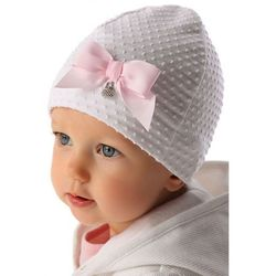 Czapka niemowlęca biała 5x34a8 marki Marika