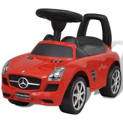 vidaXL Mercedes Benz - samochód zabawka dla dzieci napędzany nogami czerwony