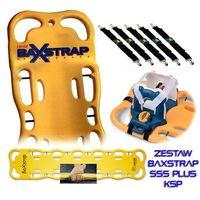 Zestaw 3s ksp: deska ortopedyczna baxstrap + unieruchomienie speedblocks + pasy (komplet 5 szt.) marki Kevisport