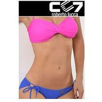 SET Kąpielowki CC7 BANDUAGE HOT PINK + SUPER BRIEFS ELECTRIC BLUE no. 33