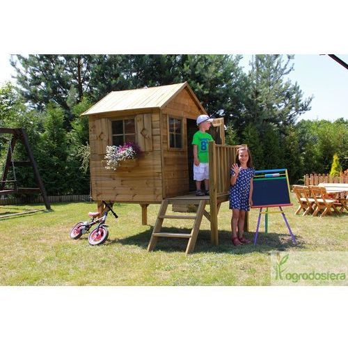 Ogrodosfera.pl Drewniany domek dla dzieci z tarasem tommy