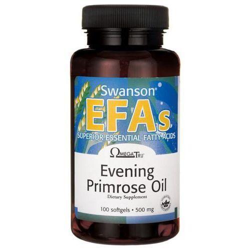 Kapsułki Olej z wiesiołka dwuletniego Evening Primrose Oil EFAs 500mg 100 kapsułek Swanson