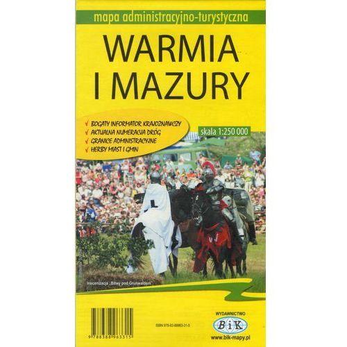 Województwo Warmińsko-Mazurskie. Mapa turystyczno-administracyjna (2004)
