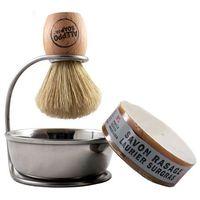 Zestaw do golenia Hammam Barber - pędzel, mydło, stojak, miska - Aleppo Soap co.