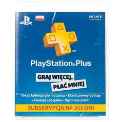 Karta Playstation Plus 365 dni- Zamów do 16:00, wysyłka kurierem tego samego dnia!