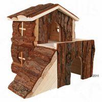 Dwupiętrowy domek dla gryzonia - dla świnki morskiej, dł. x szer. x wys: 30 x 20 x 30 cm marki Zooplus exclusive