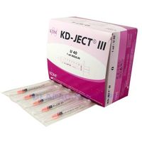 Kd medical (kdm) Strzykawka jedn. użytku 1ml insulinowa u40 (z igłą 0,33x12mm) - 100szt.