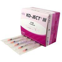 Strzykawka jedn. użytku 1ml insulinowa u40 (z igłą 0,4x13mm) - 100szt. marki Kd medical (kdm)