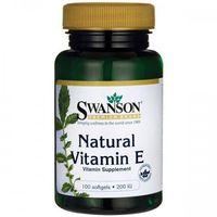 Swanson Witamina E Naturalna 200IU - (100 kap)