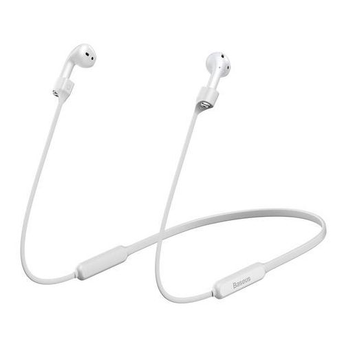Baseus silikonowy uchwyt opaska pasek do słuchawek AirPods 2 / 1 biały (ARAPPOD-02) (6953156297562)