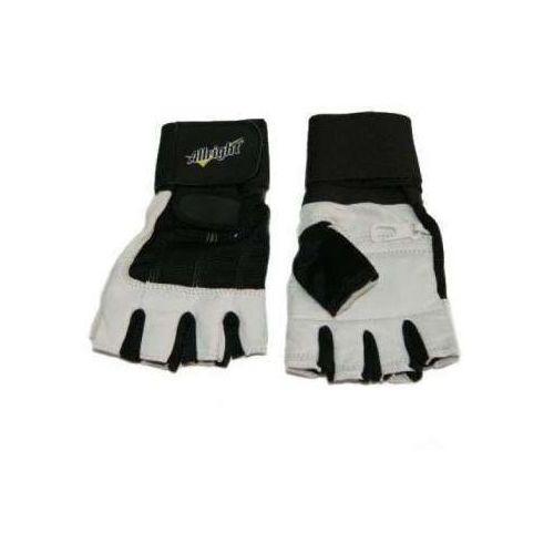 Allright Rękawice kulturystyczne skóra z nadgarstkiem (rozmiar:: m)
