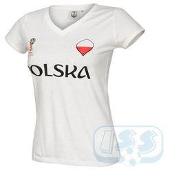 Bpol174w: polska - koszulka damska marki World cup 2018