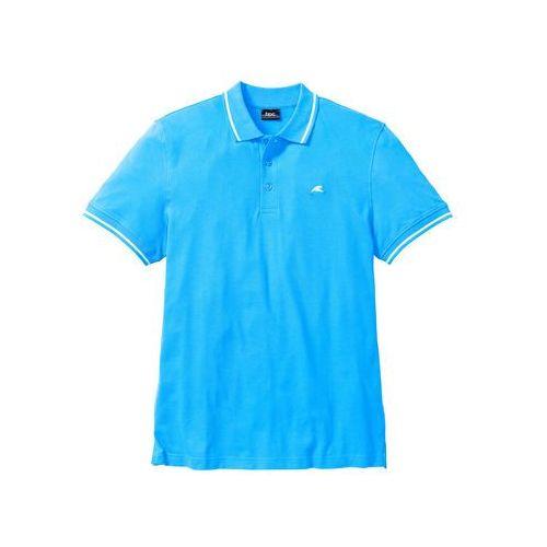 Shirt polo bonprix turkusowy