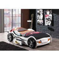 Łóżko AUTO samochód Turbo Racing biały, łóżko dla dziecka, dla chłopca