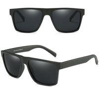 Okulary przeciwsłoneczne polaryzacyjne męskie mat - matte black/grey