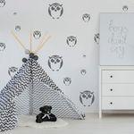 Szablon malarski wielokrotny dla dzieci (5 szt.) // sowy marki Nakleo