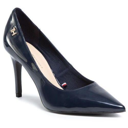 Szpilki TOMMY HILFIGER - Feminine Patent High Heel Pump FW0FW04815 Desert Sky DW5