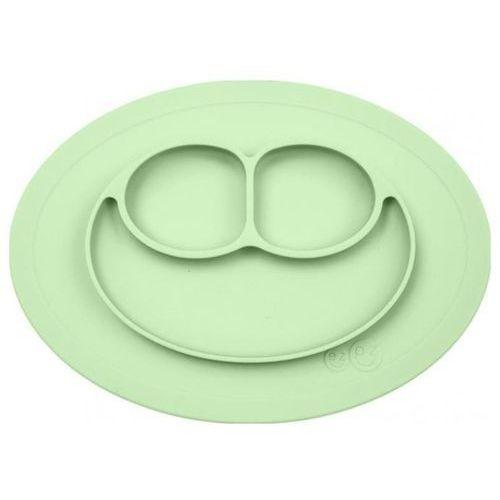 Silikonowy talerzyk z podkładką 2w1 mini mat - pastelowa zieleń Ezpz