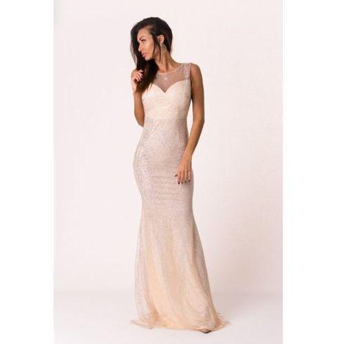 Soky soka sukienka kremowy 46016-1 Soky&soka