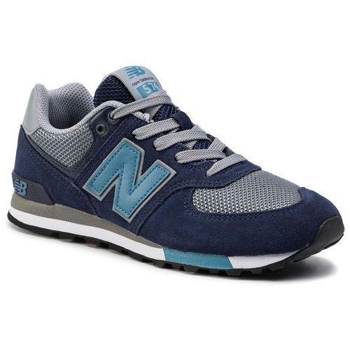 Sneakersy NEW BALANCE - GC574FND Granatowy Szary