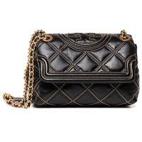 Torebka TORY BURCH - Fleming Soft Stud Small Convertible Shoulder Bag 60968 Black 001