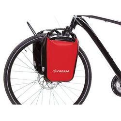 CO1010.30.02 Sakwy rowerowe Crosso DRY SMALL 30l Czerwone zestaw na tył / przód