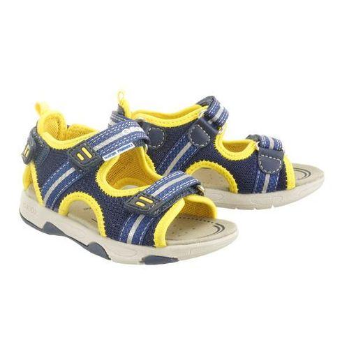 b920fa sand.multy 01415 c0657 navy/yellow, sandały dziecięce, rozmiary: 22-23 marki Geox