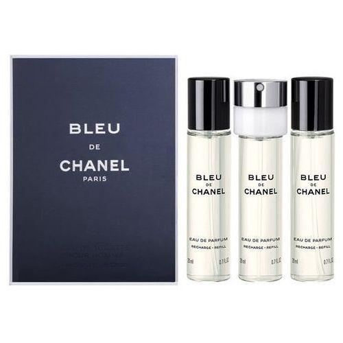Chanel bleu de chanel 3x 20 ml woda perfumowana napełnienie 60 ml dla mężczyzn