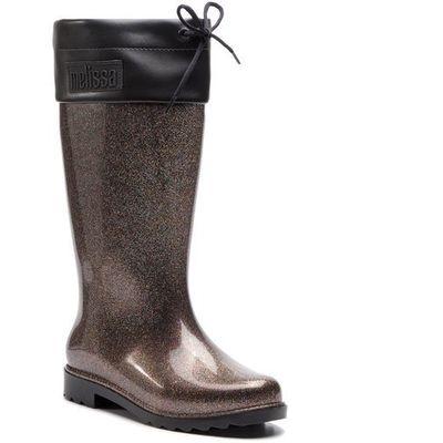 f967d9f947c78 Kalosze MELISSA - Rain Boot Ad 32422 Black Glitter 52324