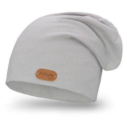 Wiosenna czapka - jasnoszary - jasnoszary marki Pamami