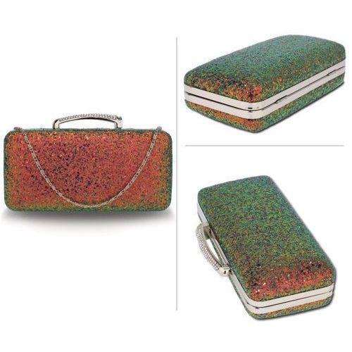 d5b5f2f20020b Wielka brytania Mieniąca brokatowa torebka wizytowa rudy z zielenią - rudy