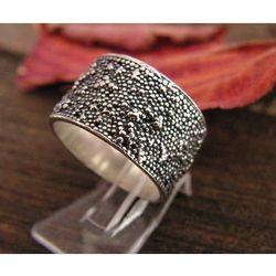 OPAL - srebrny pierścionek obraczka