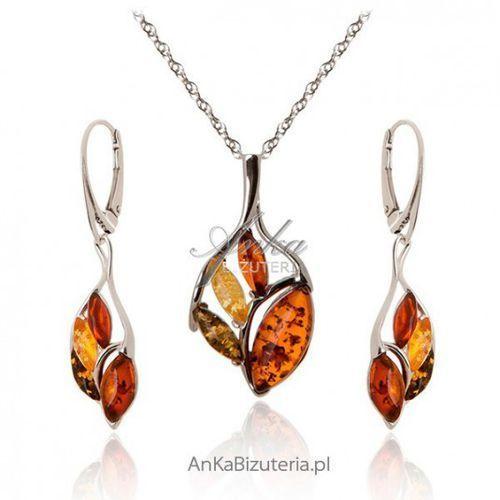 Ankabizuteria.pl srebrna biżuteria: komplet biżuterii z bursztynem marki Anka biżuteria