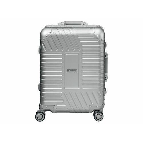 TOPMOVE® Walizka aluminiowa Premium 32 l srebrna,