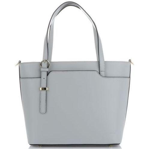 ea6832689b647 Vittoria gotti klasyczne i eleganckie włoskie torebki skórzane na każdą  okazję jasno szare (kolory)