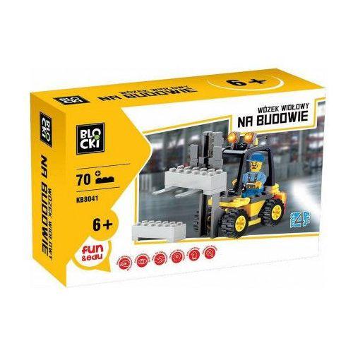 Klocki Blocki Na budowie Wózek widłowy 70 elementów