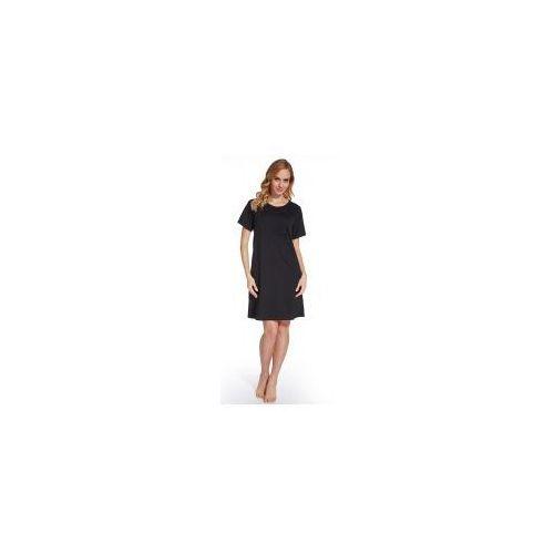 Koszula nocna ciążowa i do karmienia - Czarna, kolor czarny