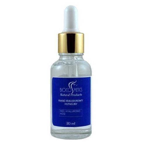 Biocosmetics Kwas hialuronowy potrójny - szklana butelka + pipetka - 30ml